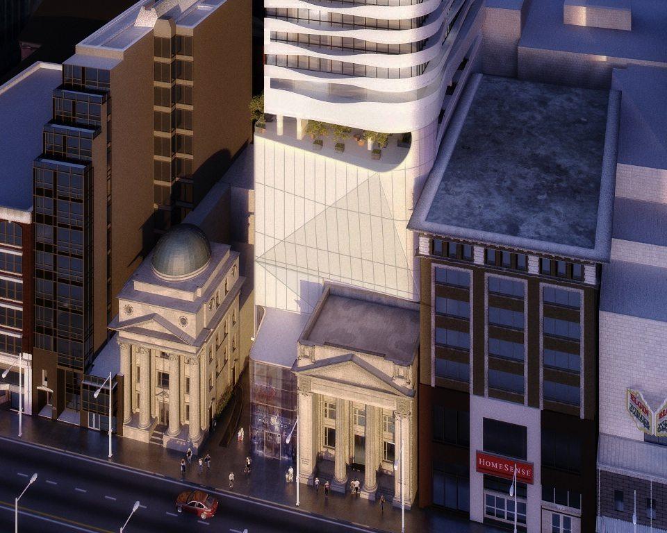 Massey Tower Condos Aerial View Toronto, Canada