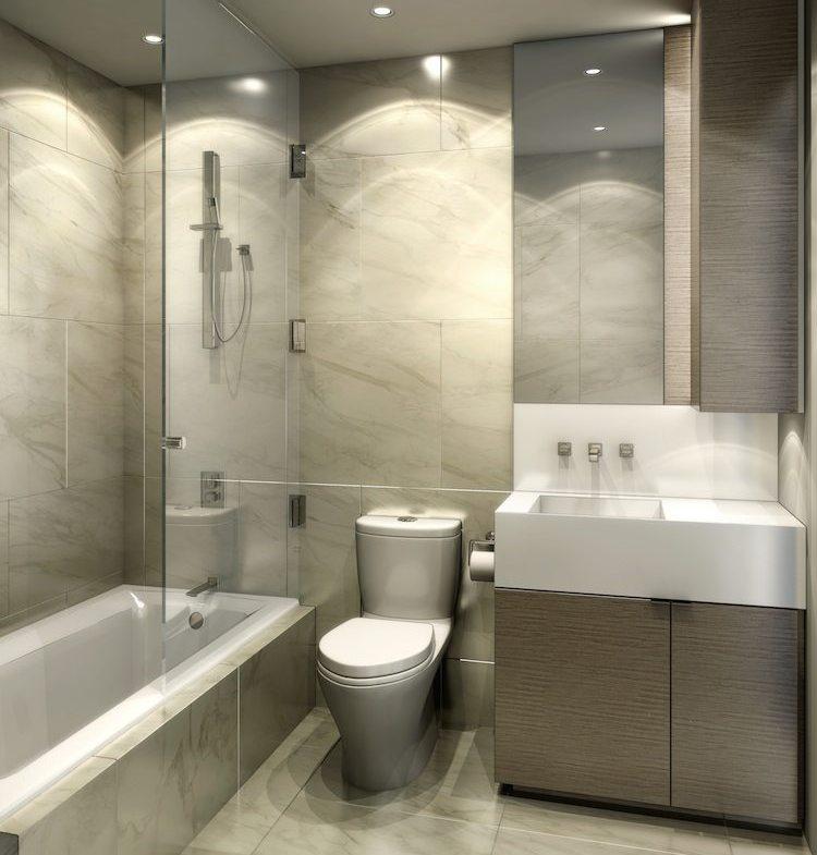 Monde Condos Bathroom Toronto, Canada