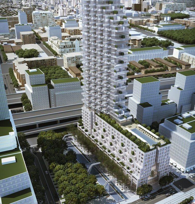 Monde Condos Aerial Building View Toronto, Canada