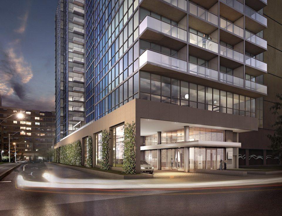 No. 210 Residences on Simcoe Entrance Toronto, Canada
