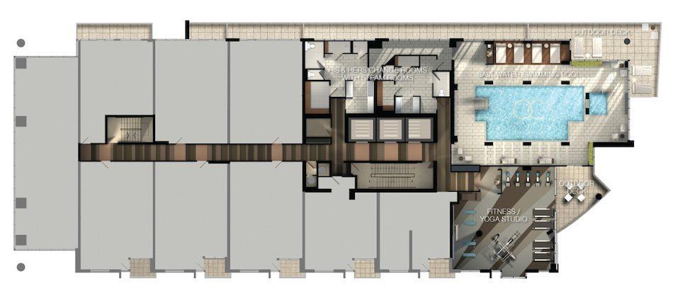 Ocean Club Condos Plan View Toronto, Canada