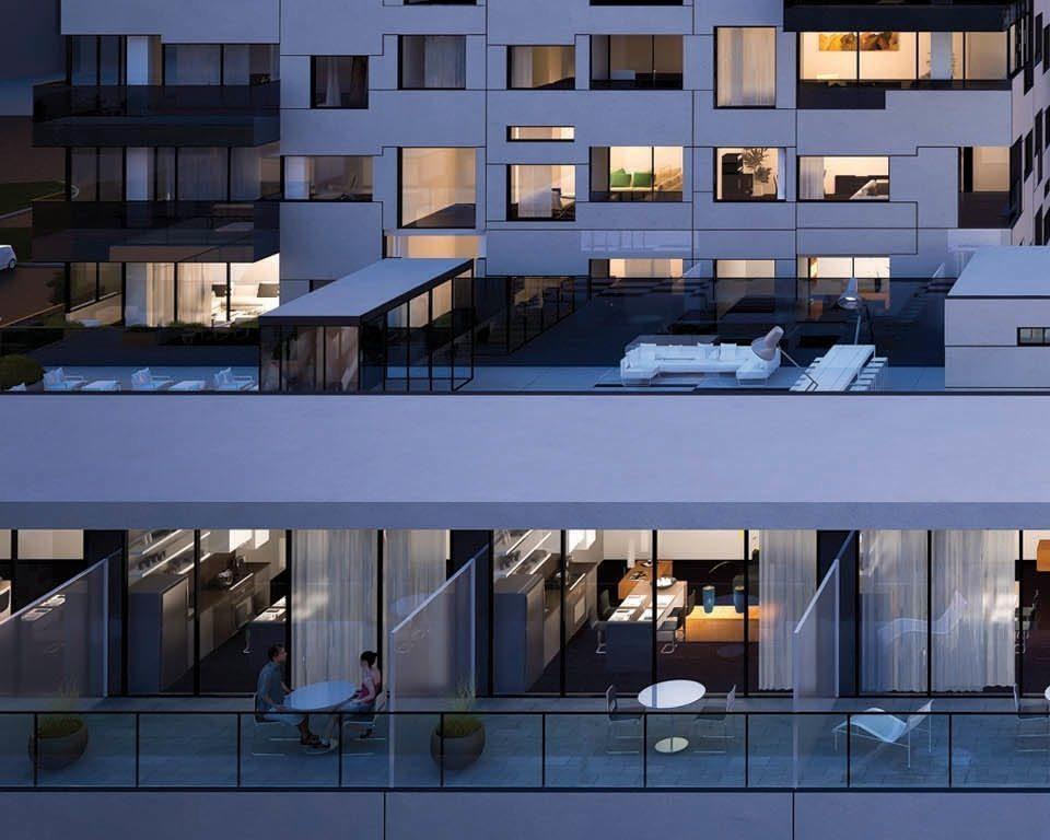 OpArt Lofts Balcony View Toronto, Canada