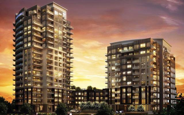 Perspective Condominiums Night View Toronto, Canada