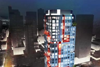 Picasso Condos Night View Toronto, Canada