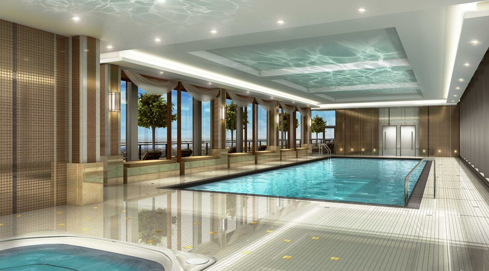 Pinnacle Uptown Crystal Condominiums Swimming Pool Toronto, Canada
