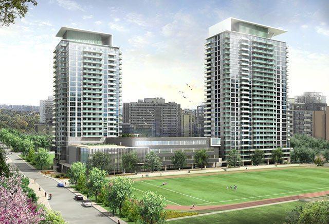 Republic Of Yonge And Eglinton Condos Play Ground Toronto, Canada