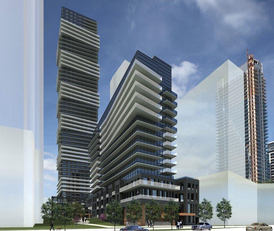 Riva del Lago Condos Building View Toronto, Canada