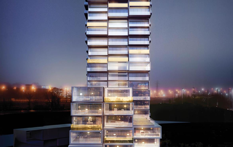 River City Condos Phases 3 Night View Toronto, Canada