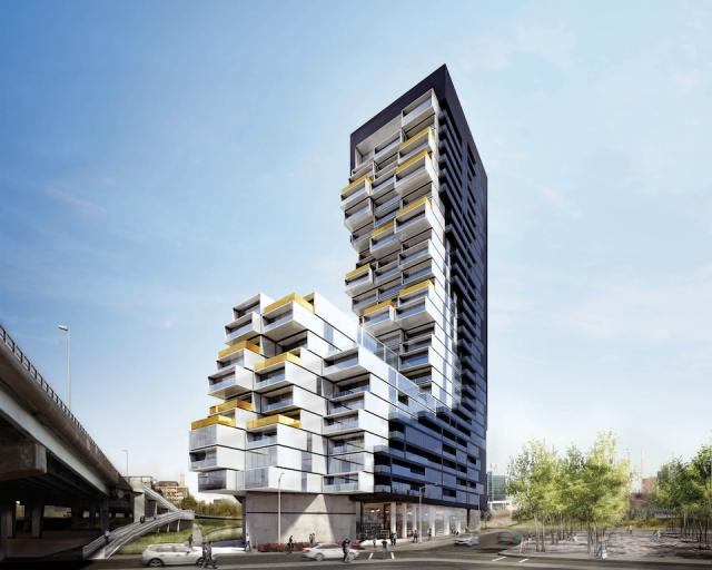 River City Condos Phases 3 Building View Toronto, Canada