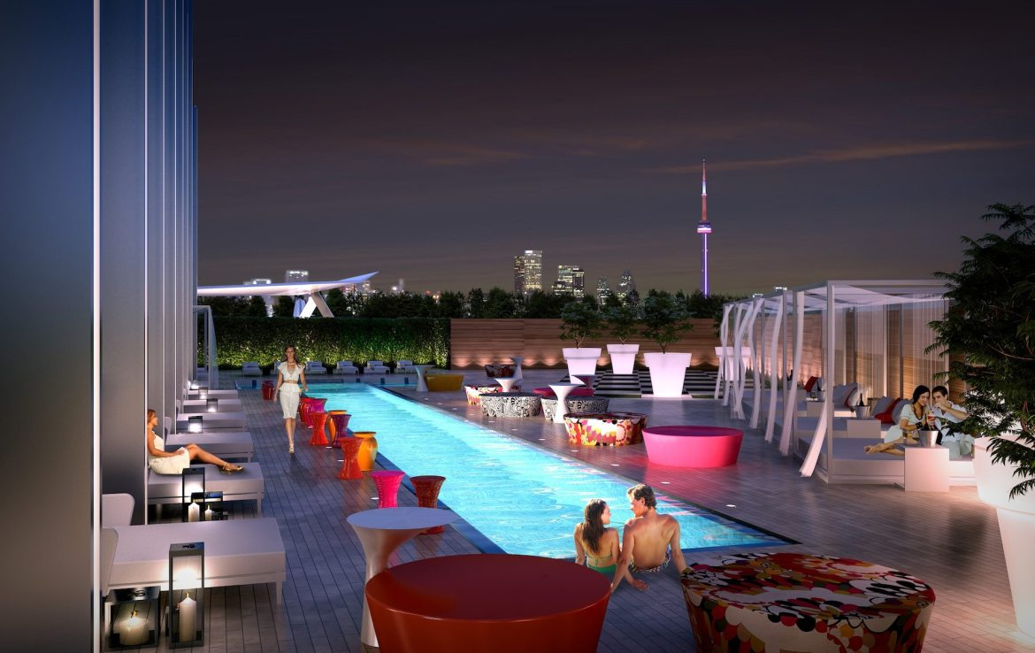 South Beach Condos & Lofts Terrace Pool Toronto, Canada