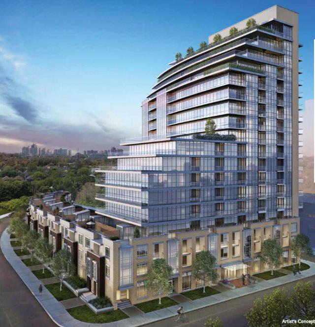 Berwick Condos Building View Toronto, Canada