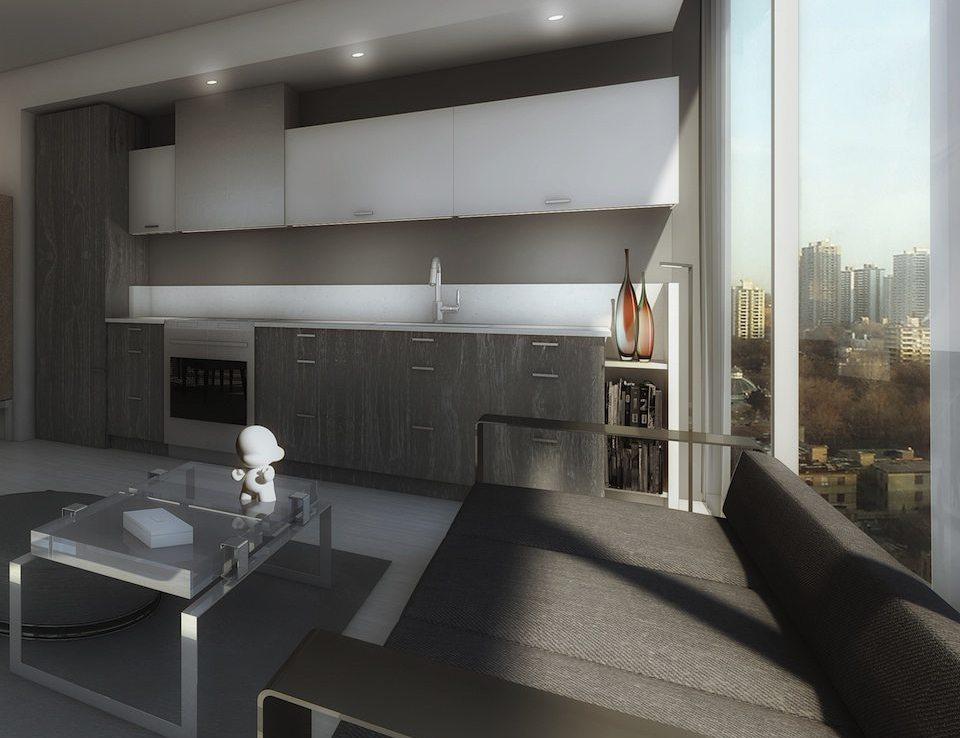 Bond Condos Living Area Toronto, Canada
