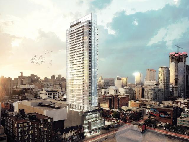 Bond Condos Building View Toronto, Canada