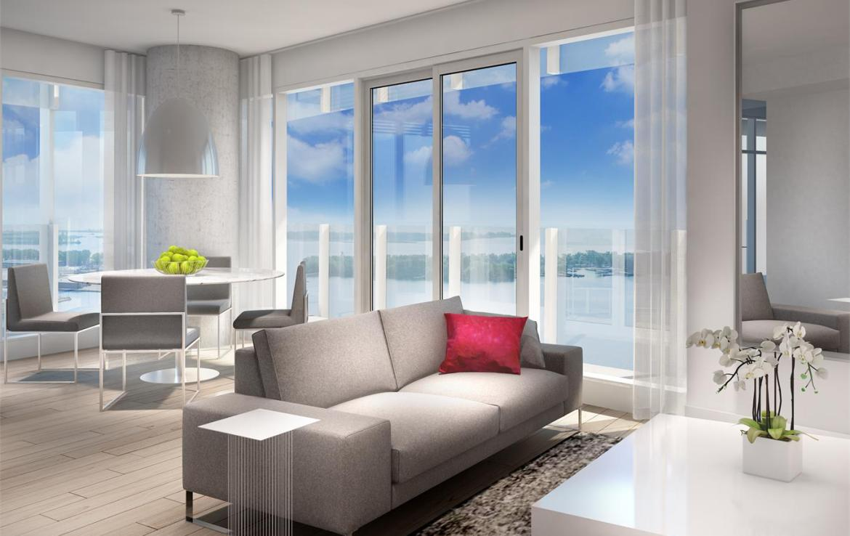 Lakeside Residences Living Area Toronto, Canada