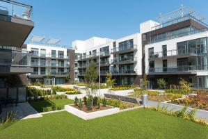Friday Harbour Resort Condos and Towns exterior courtyard