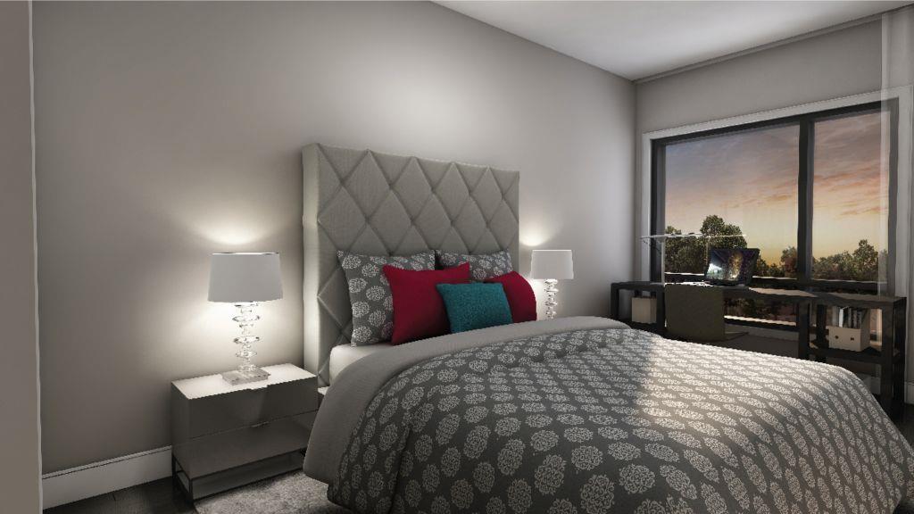 Spice Urban Towns Condos Bedroom Living Area Toronto, Canada