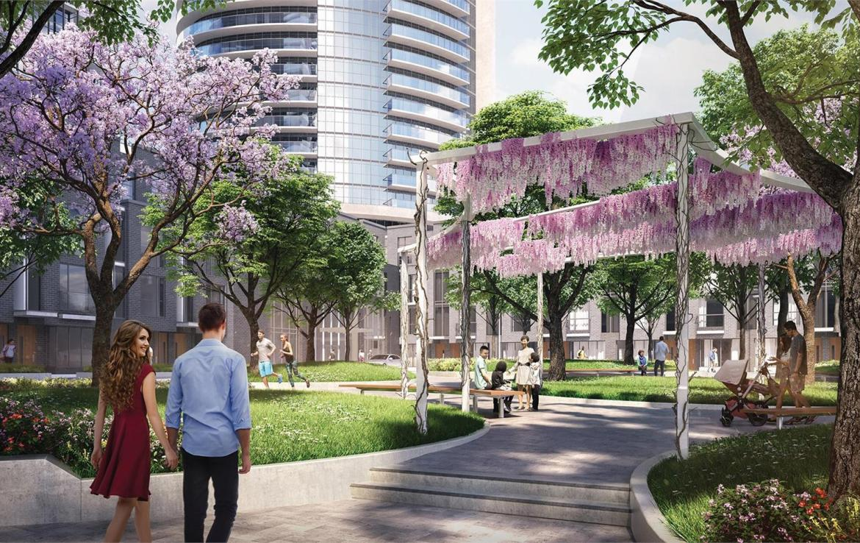 Valhalla Town Square Park Area Toronto, Canada