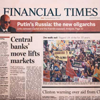Financial Times newspaper example