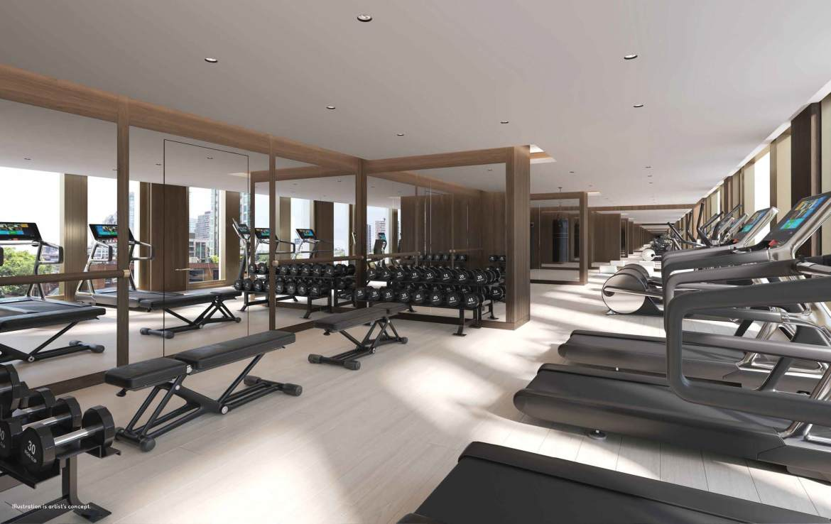 Rendering of 50 Scollard Yorkville Condos Fitness Centre