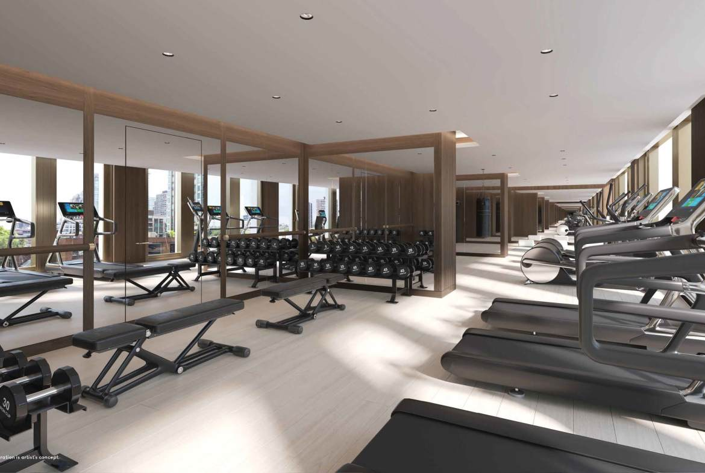 Rendering of 50 Scollard Yorkville Condos Fitness Centre