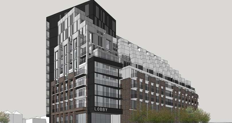 Exterior rendering of Merge Condos