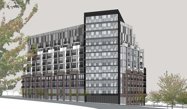 Exterior rendering of Merge Condos