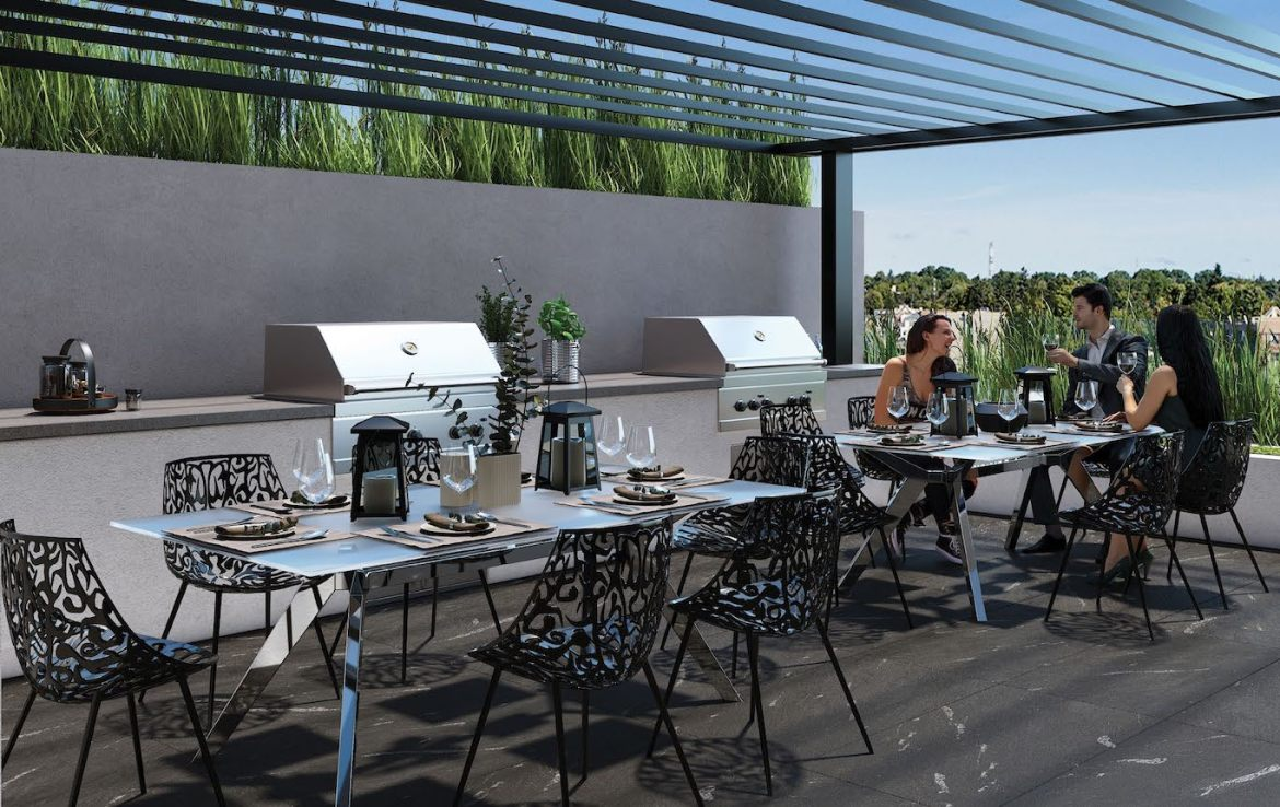 Rooftop Terrace Rendering at the Residence at Five Points Condos