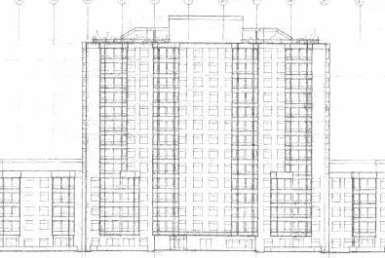 Exterior image of the 1000 Mount Pleasant Road Condos in Toronto