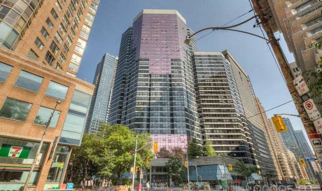 Exterior image of the 1001 Bay Condos in Toronto