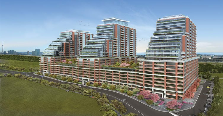Exterior image of the King West Condominiums Phase III in Toronto