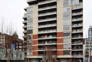Exterior image of the Quad Lofts in Toronto