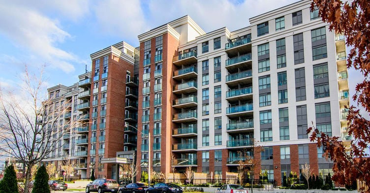 Exterior image of the Red Hot Condos in Toronto