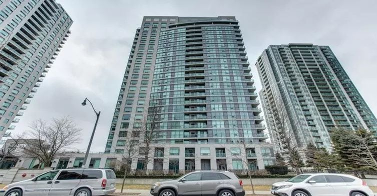 Exterior image of the Spectrum Residences North Tower in Toronto