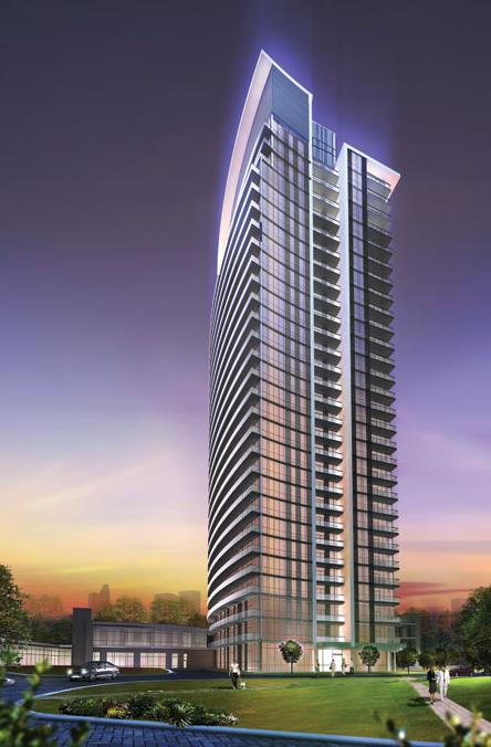 Rendering of Emerald City 2 Condos building exterior