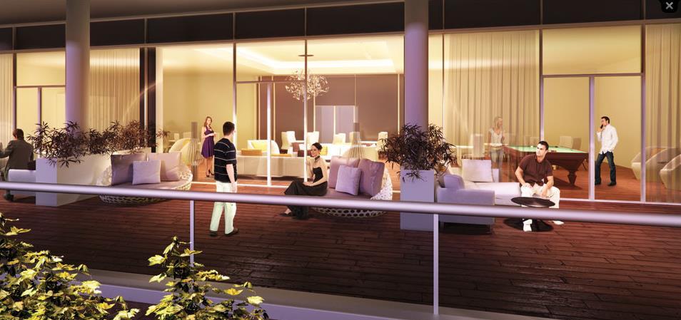 Rendering of Emerald City 2 Condos exterior terrace