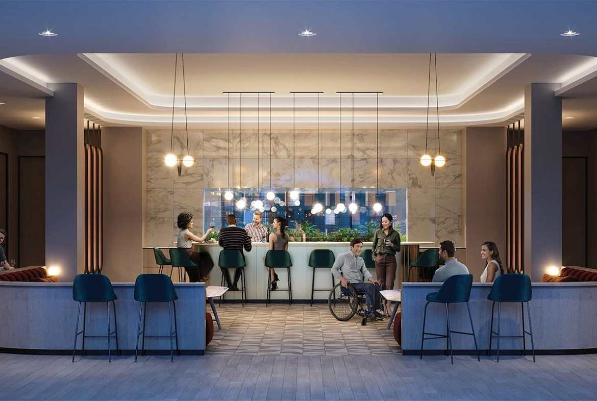 Rendering of Artworks Tower Condos Party Room