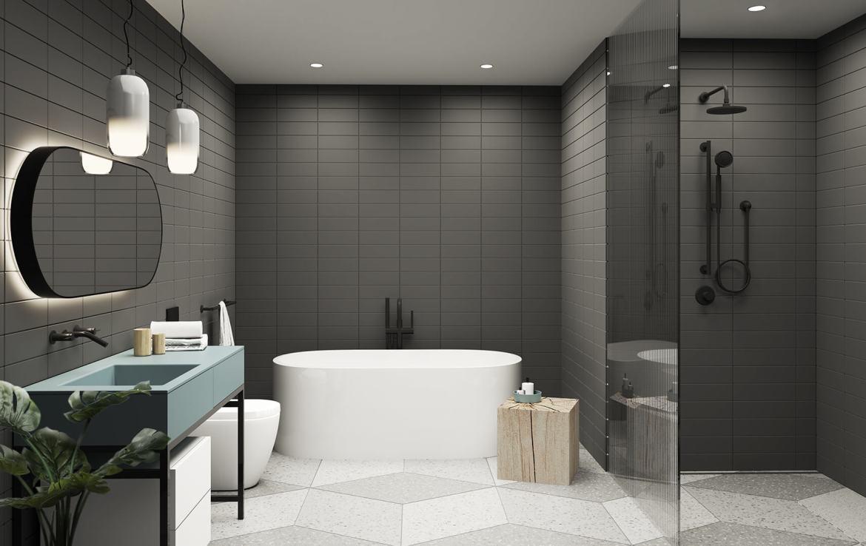 Big King West Residential Unit Bathroom
