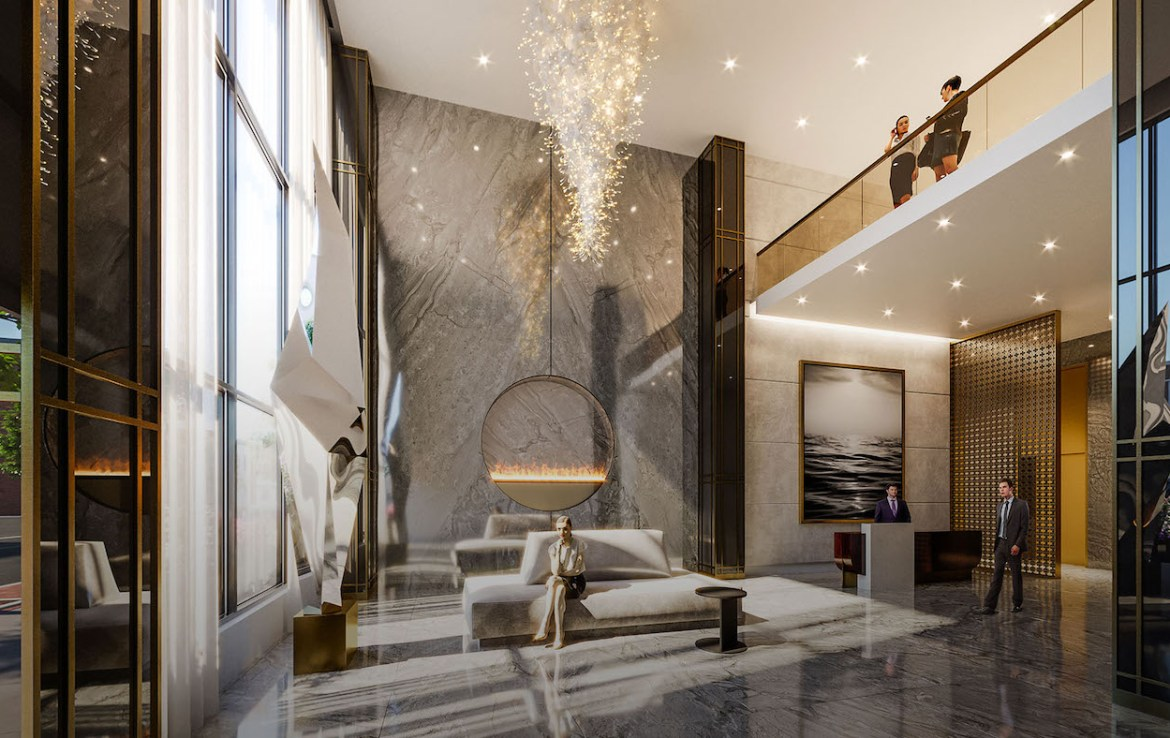 Rendering of Gallery Condos and Lofts Lobby