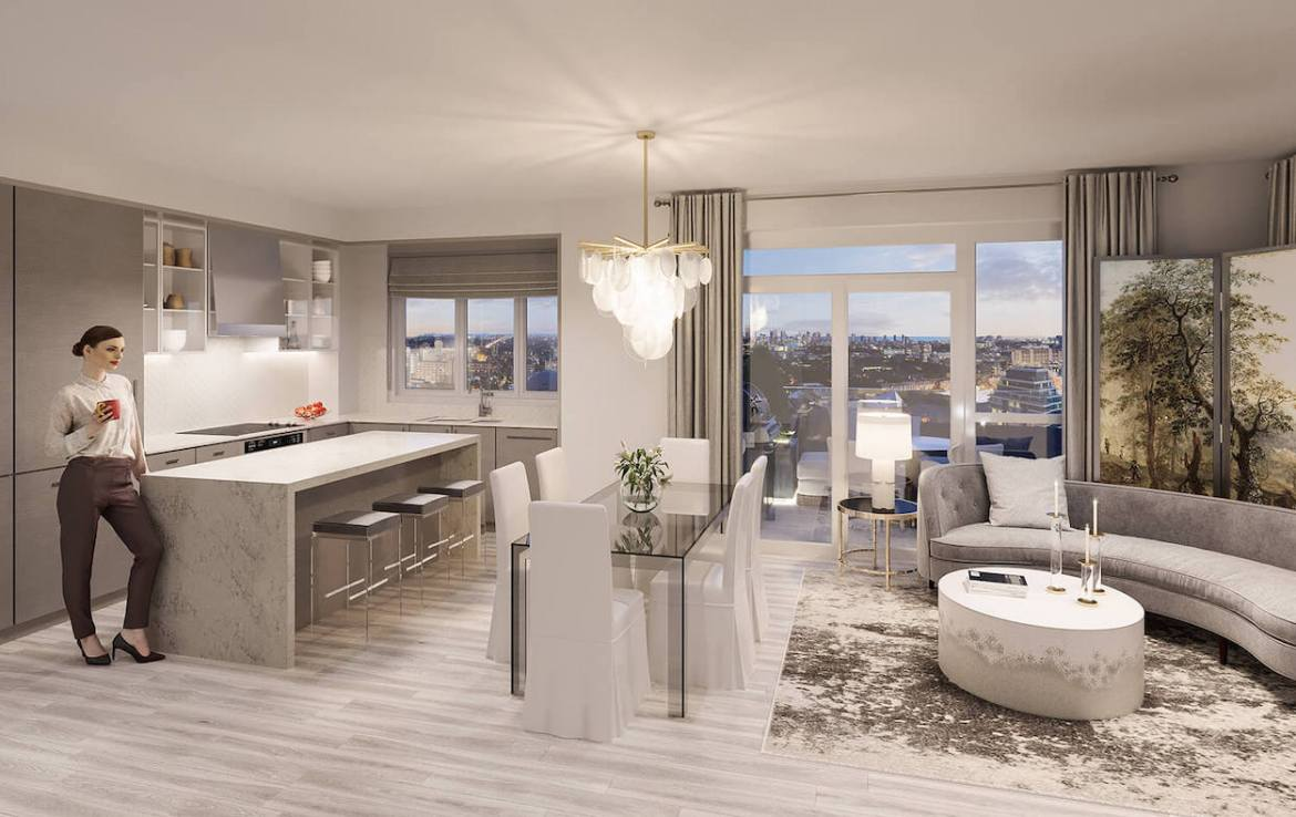 Rendering of Gallery Condos and Lofts Suite Interior