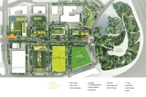 Siteplan of Canary District Community in Toronto