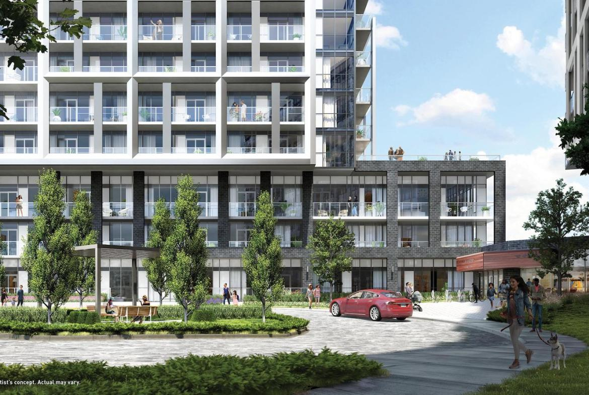 Saturday in Downsview Park Condos Courtyard