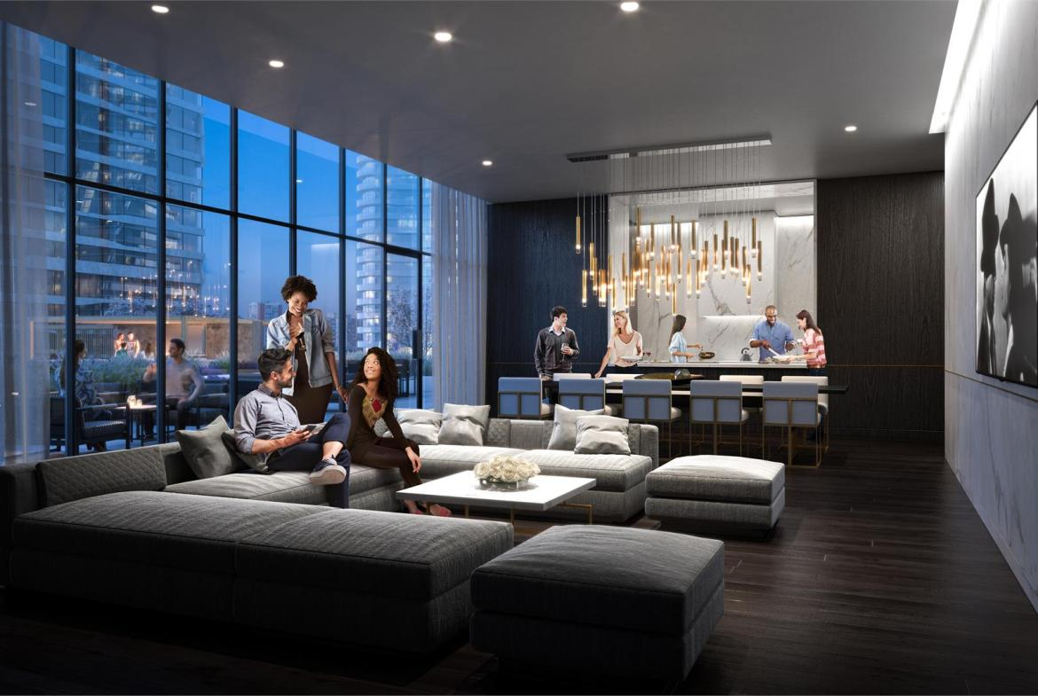 Rendering of M City Condos 3 party room