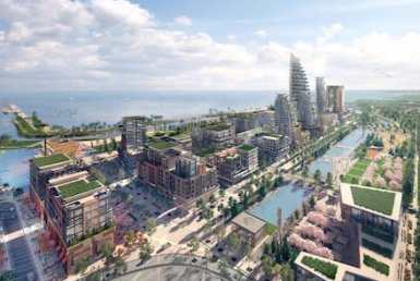Aerial Rendering of Lakeside Village