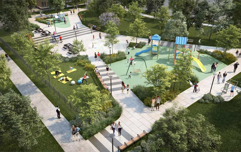 Verde Condos Outdoor Playground Rendering