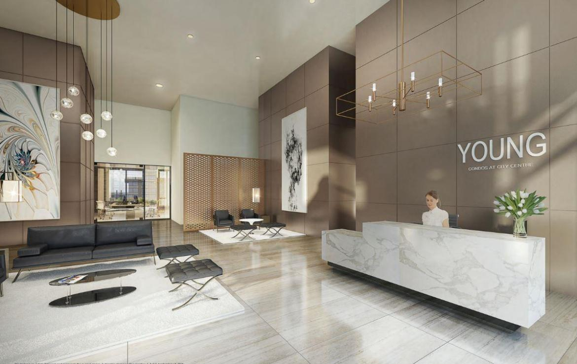 Young Condos at City Centre Lobby