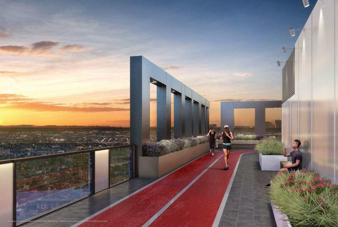 Young Condos at City Centre Rooftop Running Track