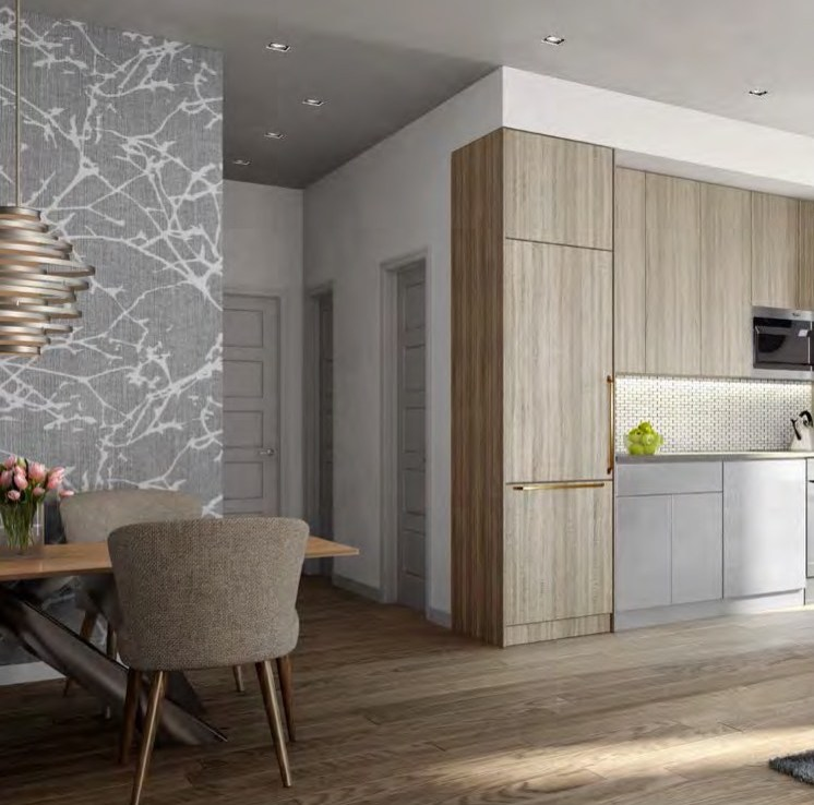 Rendering of 4Hundred East Mall Townhomes Kitchen