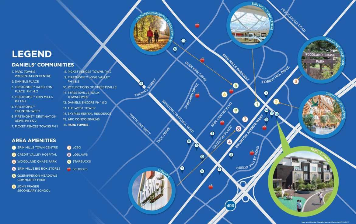 Parc Towns Local Amenities Map