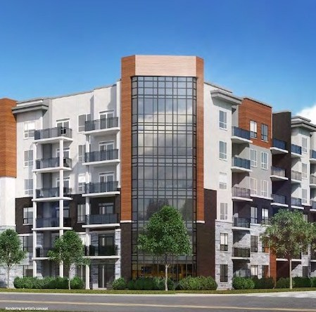 Rendering of Affinity Condos Building Exterior