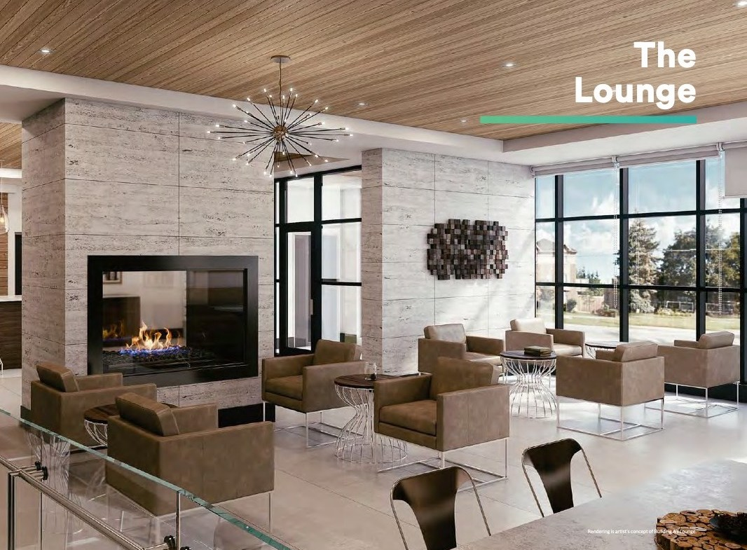 Rendering of Affinity Condos Lounge